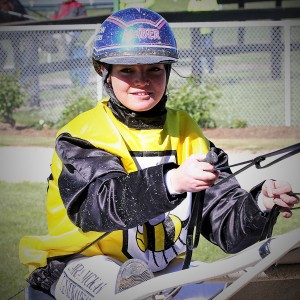 Laura McKay, after winning her first race with Kowhai Whiz at Rangiora on Thursday, November 5, 2015.