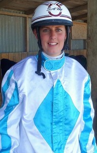Samantha Ottley, after winning at Winton with Rocker Band. Photo: Bruce Stewart, Southland Harness Racing.